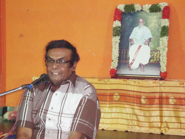 Talk at Srirangam (DAJ's Guru's Centenary)